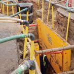 Budowa kanalizacji sanitarnej - zdjęcie archiwalne