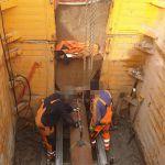 Prace przy budowie kanalizacji na wysokości przedszkola